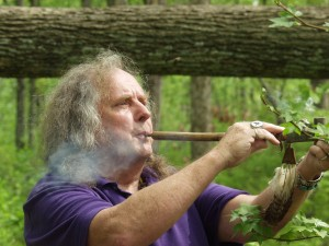 Bruce Holt with Peace Pipe